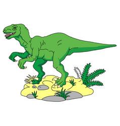 cute dinosaurs bacartoon smiling dinosaur vector image