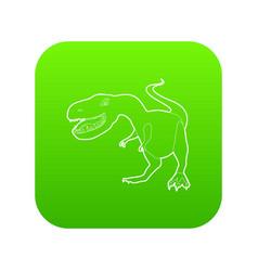 dinosaur tyrannosaur icon green vector image
