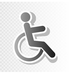 disabled sign new year vector image