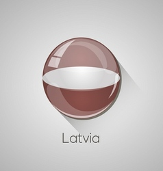European flags set - Latvia vector