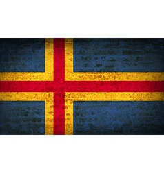 Flags Aland with dirty paper texture vector image