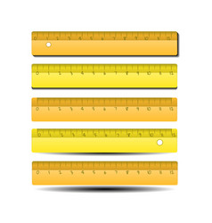 flat isolated yellow ruler ruler in a flat style vector image