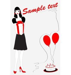Funky birthday card vector
