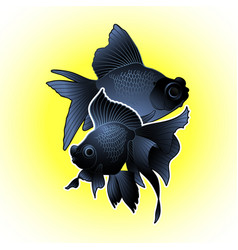 Graphic telescope fish vector