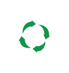 Green arrows recycle icon zerowaste concept vector