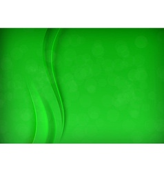 Green transparent banner with smooth wave vector