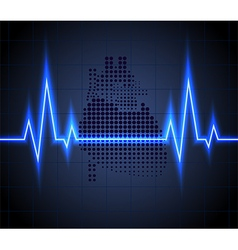 Heart beats on healthcare and icon heart vector