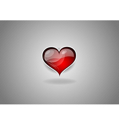 heart grey background vector image