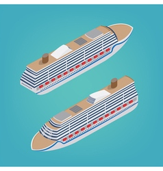 Isometric Passenger Ship Tourism Industry Cruise vector image