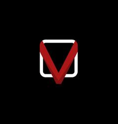 letter v media creative modern logo vector image