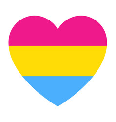 lgbt pride flag in heart shape icon on white vector image