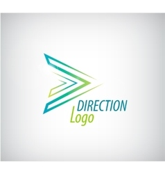 Line green arrow logo direction icon vector