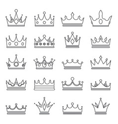 Lineart medieval royal crown queen monarch king vector