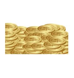 Many metals coins icon vector