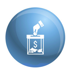 Migrant help money charity icon simple style vector