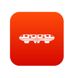 monorail train icon digital red vector image
