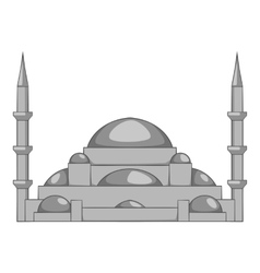 Mosque icon gray monochrome style vector image