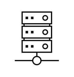 Network data server line icon concept sign vector