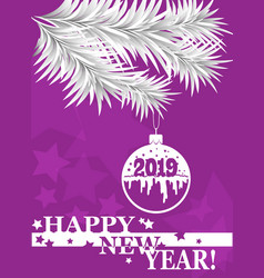 new year greeting card banner poster 2019 vector image