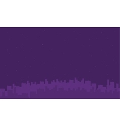 On purple backgrounds city silhouettes vector