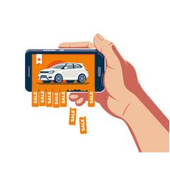 online car sale announcement vector image