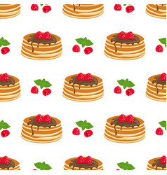 Pattern with pancakes vector
