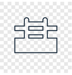 Pool concept linear icon isolated on transparent vector