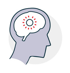 problems with the brain vector image