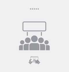 Protest crowd flat icon vector