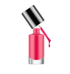 realistic nail polish bottle vector image