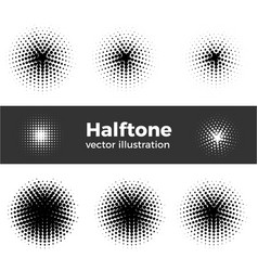 retro style dotwork background abstract vector image