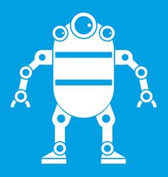 Robot icon white vector