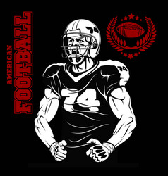 Screaming guy - american football player in action vector