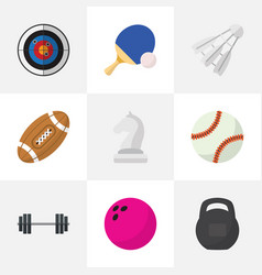 Set of 9 editable training flat icons includes vector
