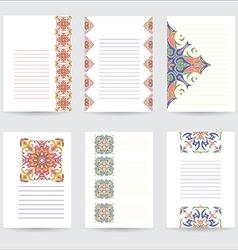 Set template color mandala in Italian majolica vector