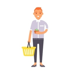 shopping boy vector image
