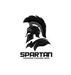 spartan logo design templat vector image
