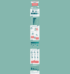 statistic infographic template vector image