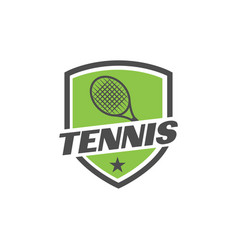 tennis sport graphic design inspiration vector image