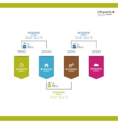 Timeline Infographic with arrows and pointers vector image