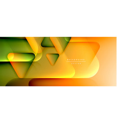 triangle shapes geometric abstract background 3d vector image