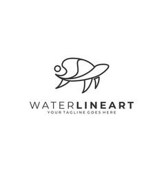 water abstract template vector image