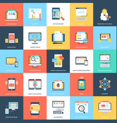 web and mobile development in flat design vector image