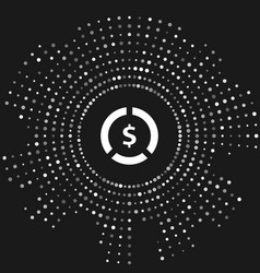 White coin money with dollar symbol icon isolated vector