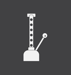 White icon on black background car crane vector