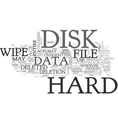 Why bother to wipe hard disk drives text word vector