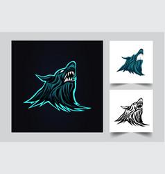 wolf logo artwork vector image