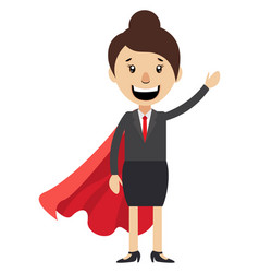 woman with red cape on white background vector image