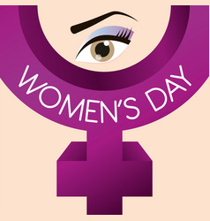 Womens day gender symbol vector