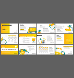 yellow and white element for slide business vector image